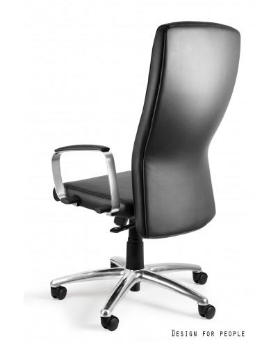 Adella PU - Czarny fotel biurowy skóra ekologiczna