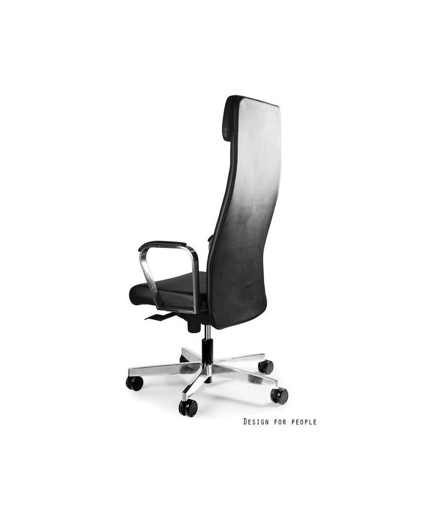 Fotel biurowy ARES PU gabinetowy czarny - skóra ekologiczna