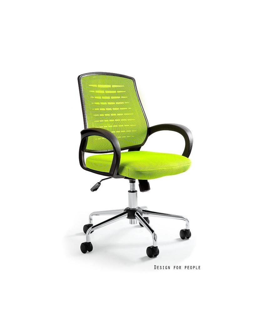 Obrotowy fotel biurowy AWARD przewiewny - zielony