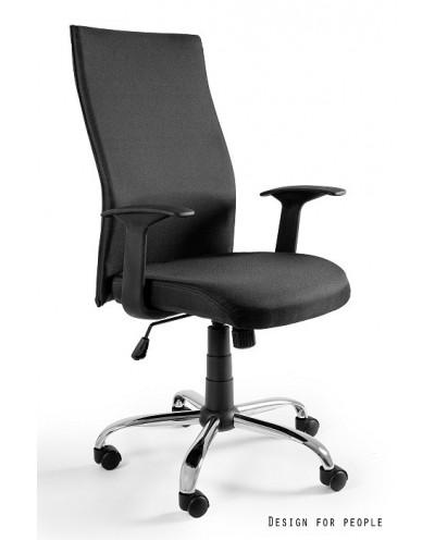 Obrotowy fotel biurowy BLACK ON BLACK membrana - czarny