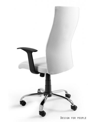 Biały fotel biurowy BLACK ON BLACK membrana - obrotowy