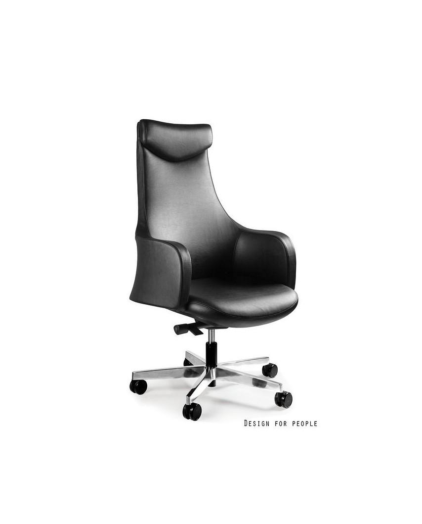 Fotel biurowy BLOSSOM PU czarny - skóra ekologiczna