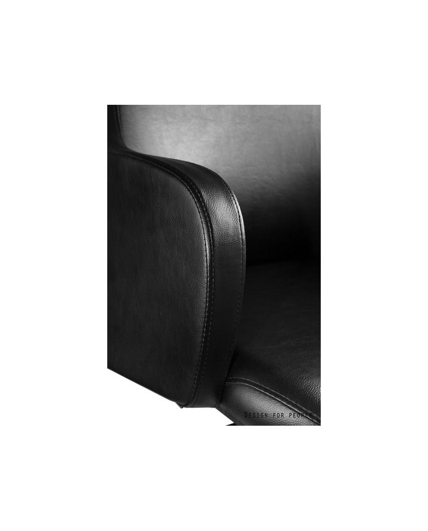 Czarny fotel konferencyjny BLOSSOM SKID krzesło biurowe