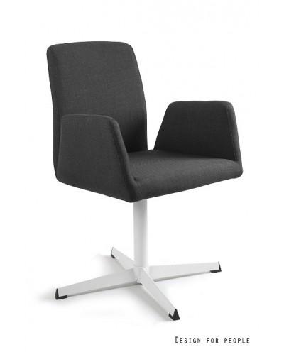 Materiałowe krzesło biurowe BRAVA czarne obrotowe