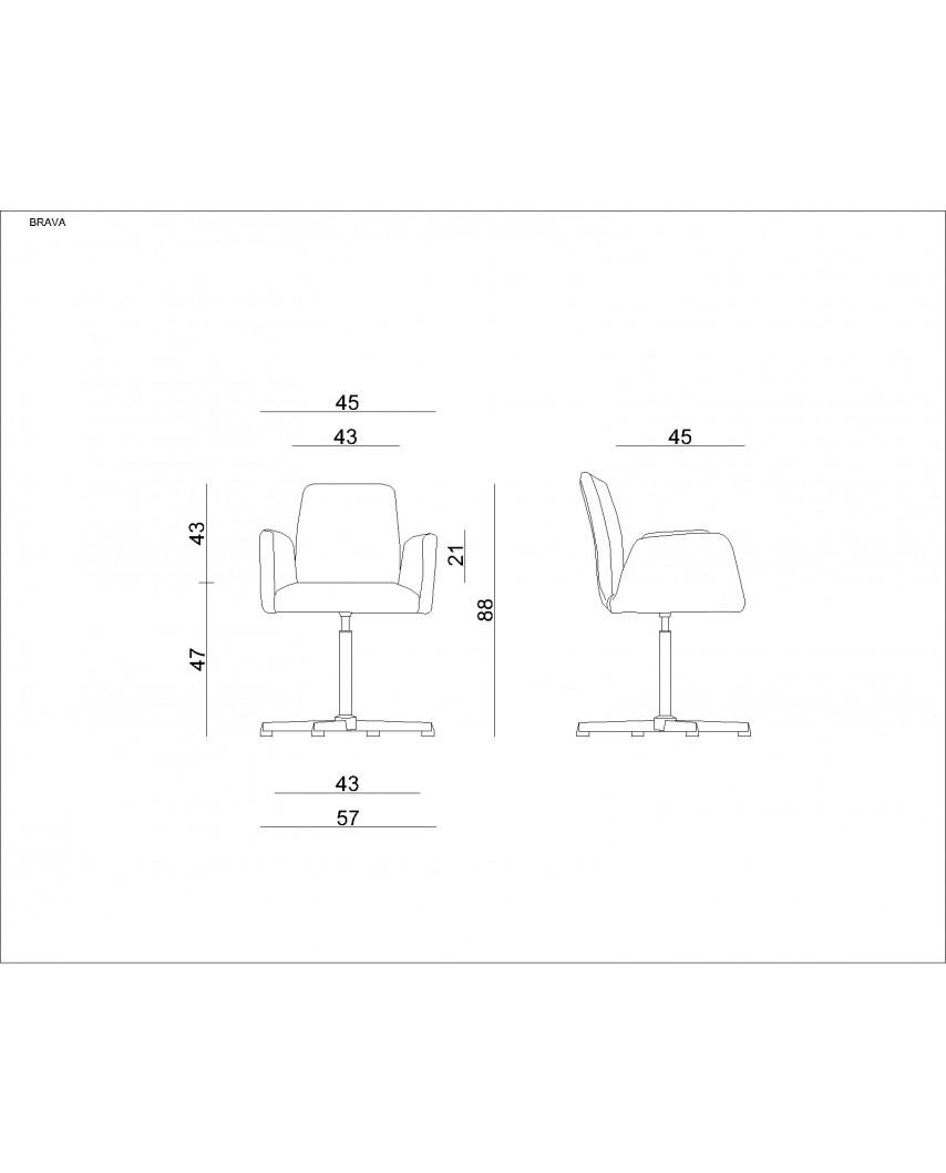 Materiałowe krzesło biurowe BRAVA beżowe obrotowe