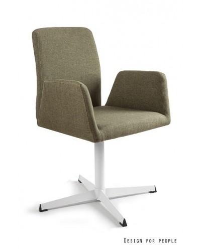 Materiałowe krzesło biurowe BRAVA zielone obrotowe