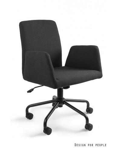 Fotel biurowy obrotowy BRAVO czarny tkanina