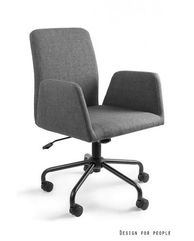Fotel biurowy obrotowy BRAVO szary tkanina