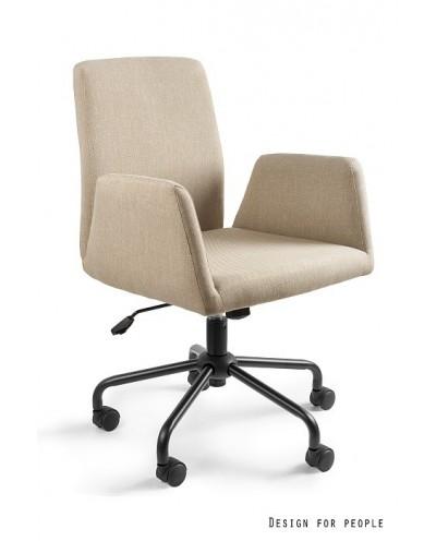 Fotel biurowy obrotowy BRAVO beżowy tkanina