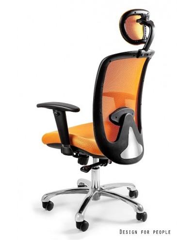 Biurowy fotel EXPANDER obrotowy do biurka - żółty