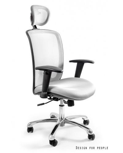 Biały biurowy fotel EXPANDER ergonomiczny