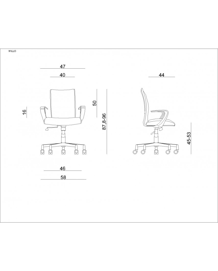 Beżowy fotel tilt MILLO biurowy obrotowy - Unique