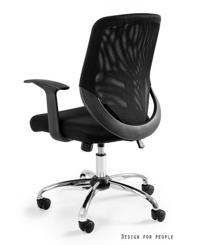 Obrotowy fotel biurowy MOBI tilt siatka - czarny