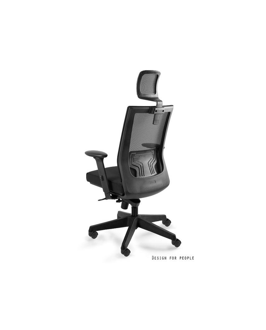 Fotel ergonomiczny NEZ do biurka - czarny