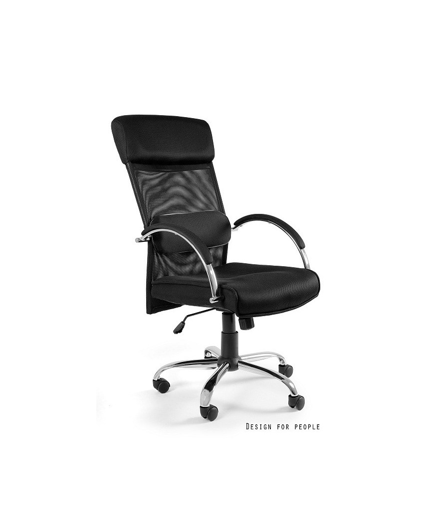 Fotel do biurka OVERCROSS biurowy - czarny