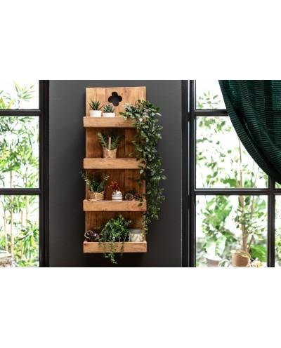 INVICTA półka HEMINGWAY 80 cm mahoń - drewno naturalne