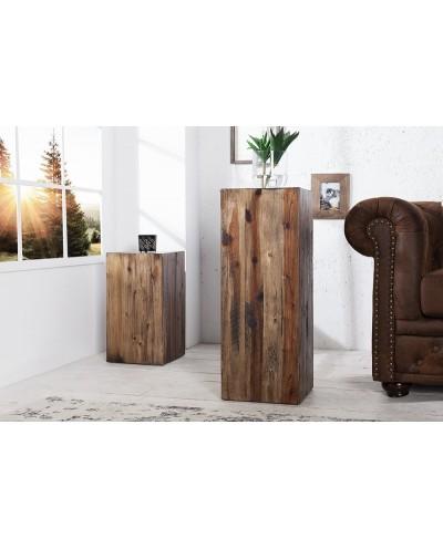 INVICTA kolumna COLUMNA 75 cm brązowa akacja, drewno naturalne