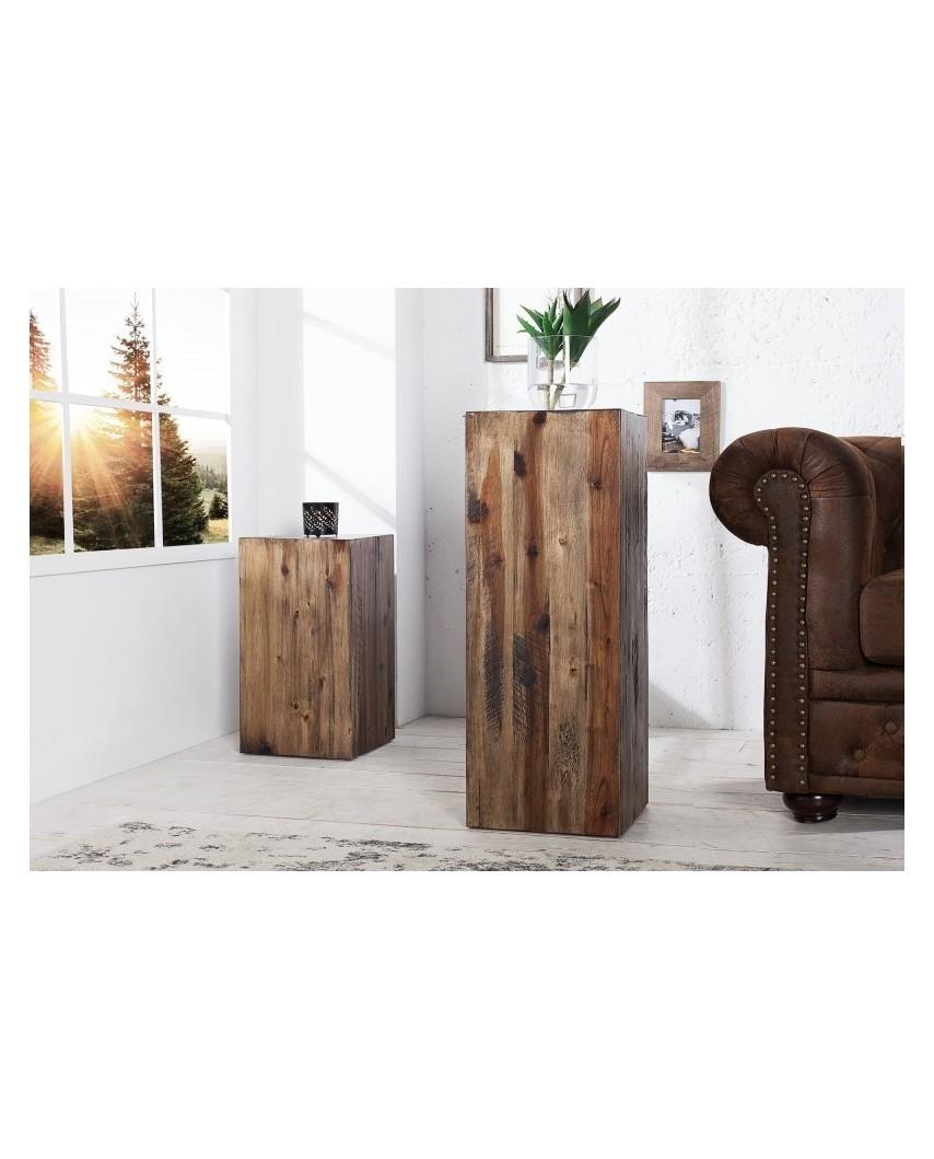 INVICTA kolumna COLUMNA 50 cm brązowa akacja, drewno naturalne