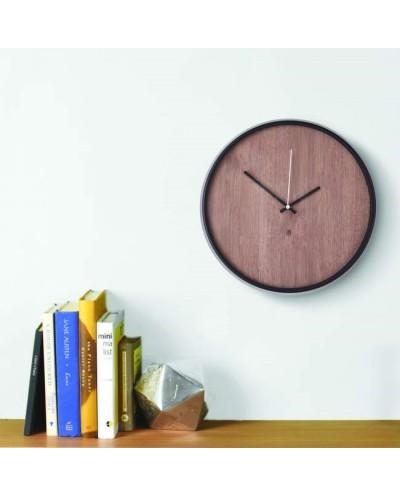 Zegar ścienny, czarno orzechowy, MADERA