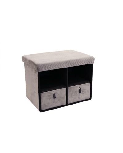 Pufa z szufladami Hiding 50cm szara