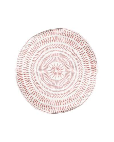 Dywan Melman czerwono biały zmywalny