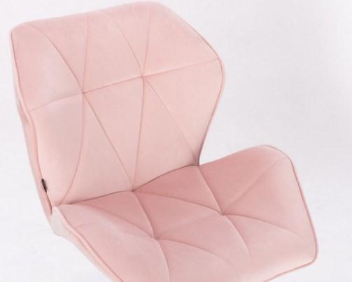Wygodne obrotowe fotele w stylu skandynawskim CRONO pudrowy róż.