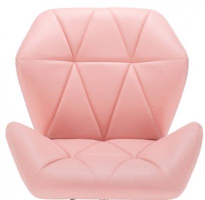 pastelowe krzesło różowe